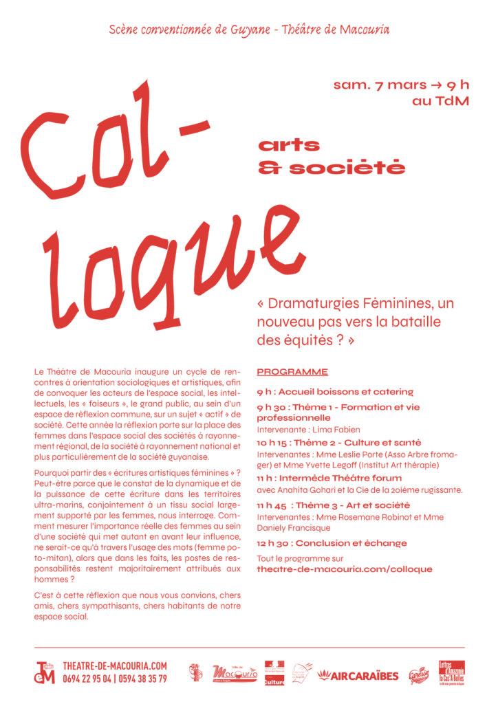 Affiche du colloque 7 mars